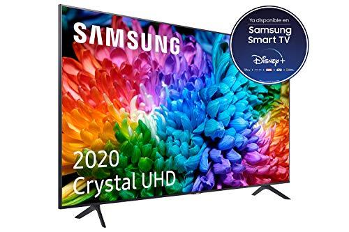 """Samsung Crystal UHD 2020 50TU7105- Smart TV de 50"""" con Resolución 4K, HDR 10+, Crystal Display, Procesador 4K, PurColor, Sonido Inteligente, Función One Remote Control y Compatible Asistentes de Voz"""